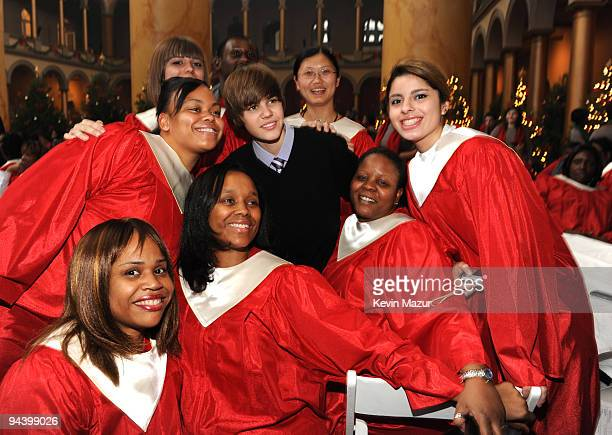 *Exclusive* Justin Bieber attends TNT's 'Christmas in Washington 2009' at the National Building Museum on December 13 2009 in Washington DC...