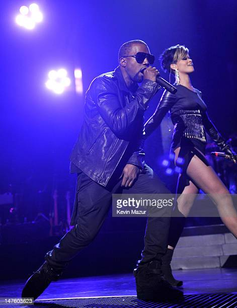 *Exclusive* Kanye West and Rihanna perform at Madison Square Garden on September 11 2009 in New York City
