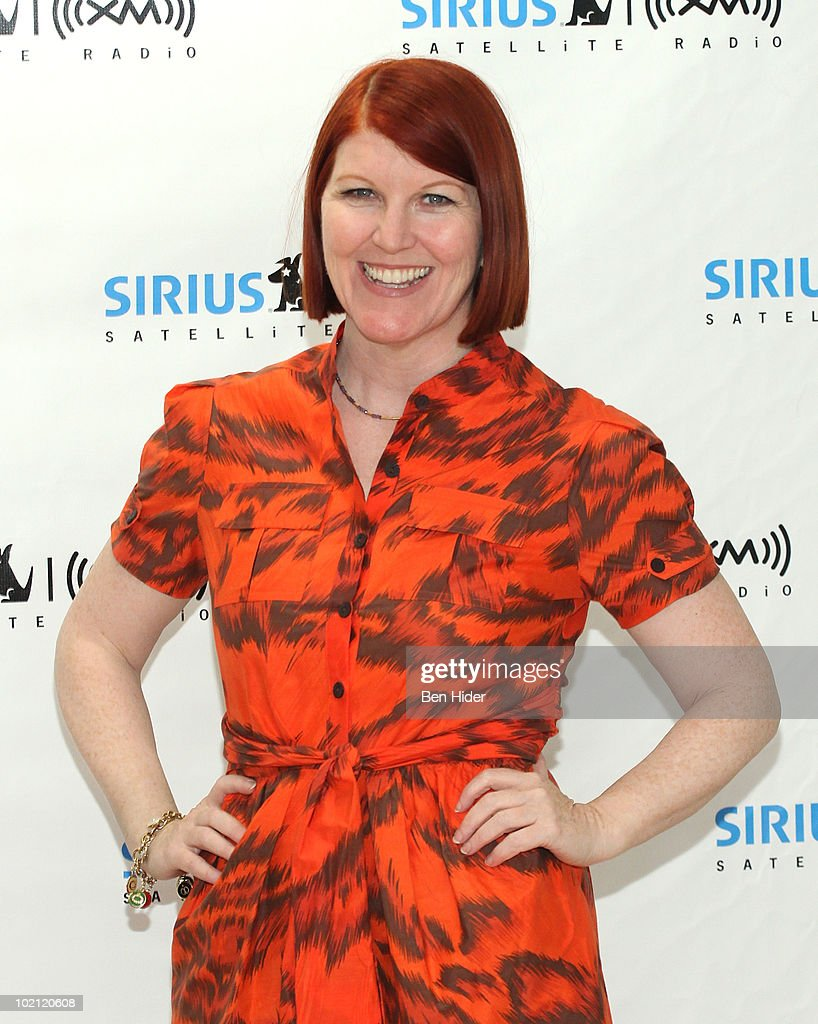 *Exclusive* Kate Flannery visits SIRIUS XM Studio on June 15, 2010 in New York City.