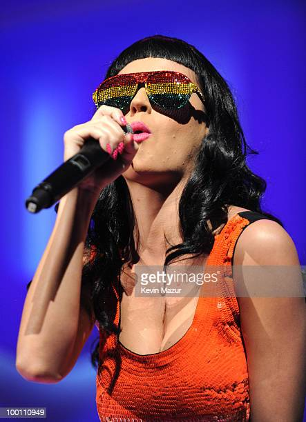 NEW YORK MAY 20 *Exclusive* Katy Perry performs on stage at the CW Network's 2010 upfront presentation at Madison Square Garden on May 20 2010 in New...