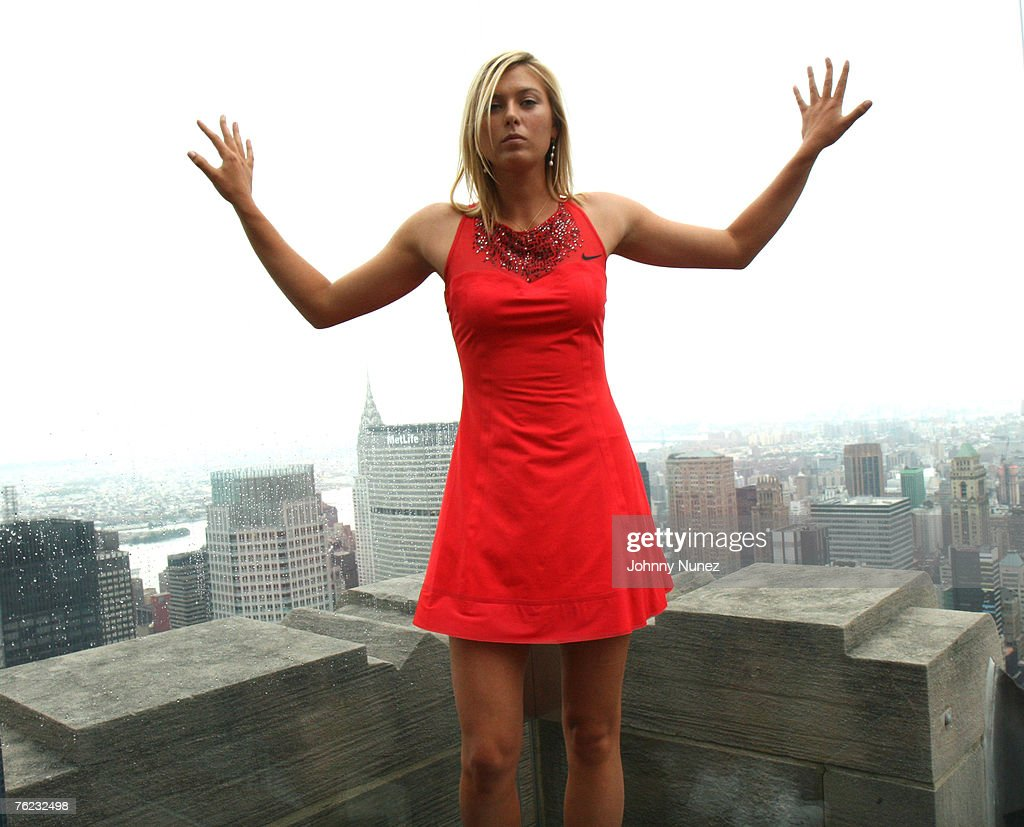 Maria Sharapova and Nike Unveil New Performance Designs For Her U.S. Open Title Defence : News Photo