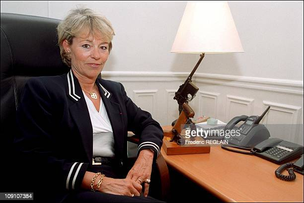 Exclusive Martine Monteil Head Of 36 Quai Des Orfevres On January 7Th 2002 In Paris France