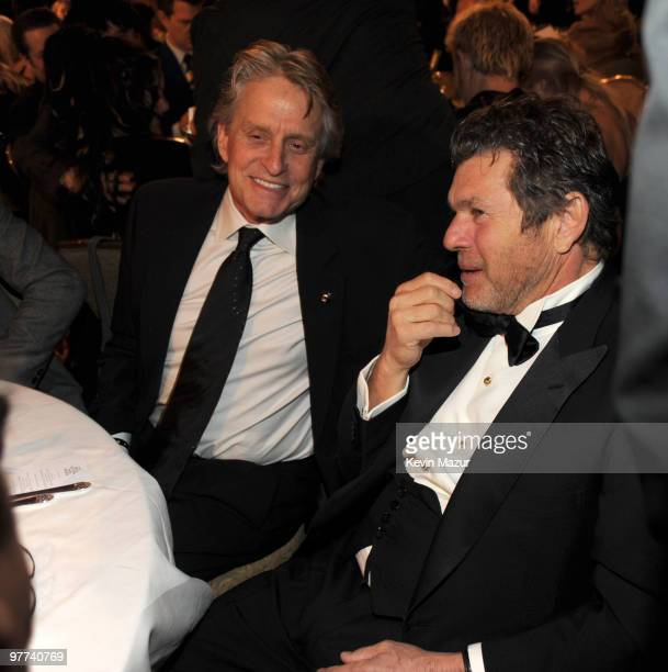 Exclusive* Michael Douglas and Jann Wenner attends the 25th Annual Rock and Roll Hall of Fame Induction Ceremony at The Waldorf=Astoria on March 15,...