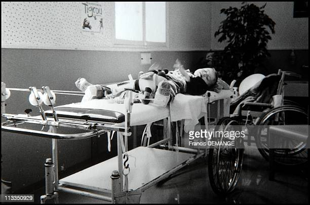 Exclusive Nosocomial Disease Victims In Viry Chatillon France In March 2007 Tanguy 9 years old victim of Staphylococcus aureus from his birth The...