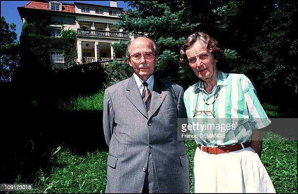 Exclusive Otto And Regina Of Habsbourg In Their Villa In Pocking On July 01St, 2001.