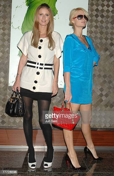 TOKYO NOVEMBER 6 **Exclusive** Paris Hilton and Nicky Hilton sighting on November 6 2007 in Roppongi Tokyo Japan