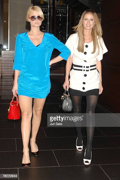 TOKYO NOVEMBER 6 **Exclusive** Paris Hilton and Nicky Hilton sighting on November 6 2007 in Tokyo Japan
