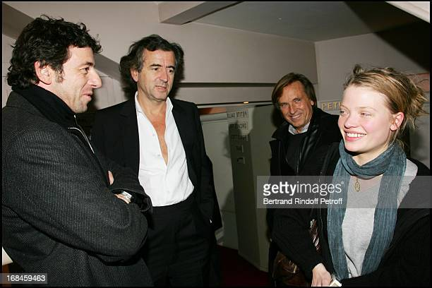 Exclusive Patrick Bruel Bernard Henri Levy Alexandre Arcady and Melanie Thierry at Exclusive Dress Rehearsal Of The Old Blond Jew Amanda Sthers