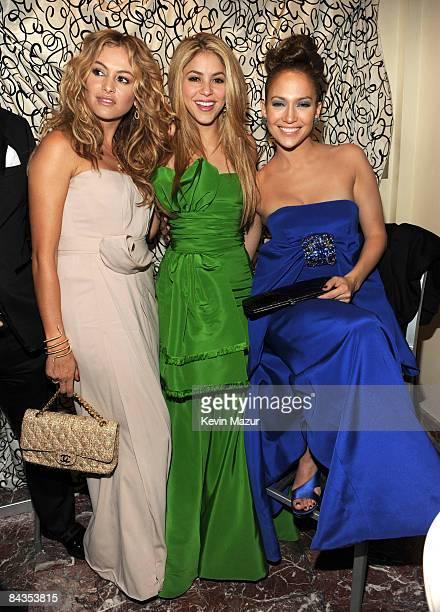 WASHINGTON JANUARY 18 *Exclusive* Paulina Rubio Shakira and Jennifer Lopez attend at the 2009 Latino Inaugural Gala Celebrando El Cambio at Union...