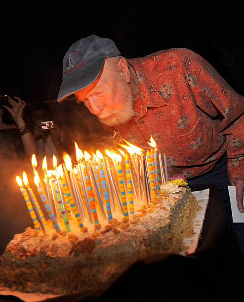 Exclusive Pete Seeger Blows Out His Birthday Candles At The After Party For