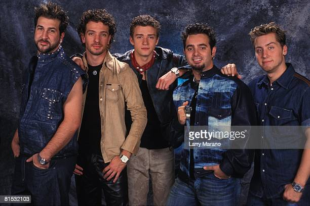 Exclusive photo session with Teen pop group NSYNC Joey Fatone JC Chasez Justin Timberlake Chris Kirkpatrick Lance Bass photographed in a Miami studio...