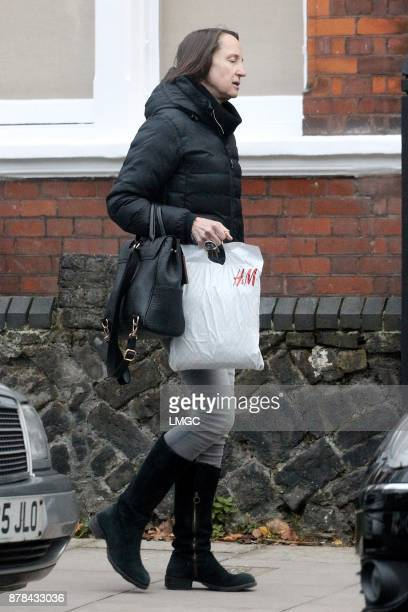 *Exclusive Photos* Carol McGiffin seen in Hampstead on November 24 2017 in London England