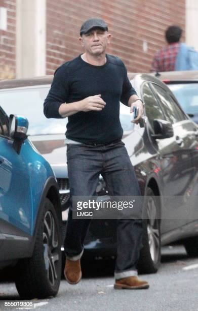 *Exclusive Photos* Daniel Craig seen running errands in North London on September 26 2017 in London England