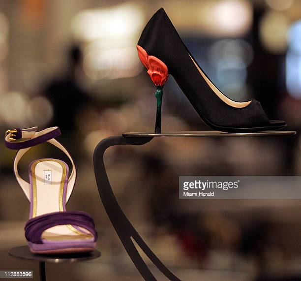 Exclusive Prada shoe section is one of the many attraction to the new Nordstrom store