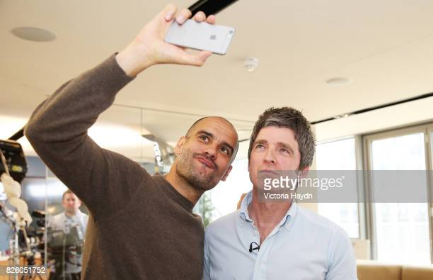 Exclusive Previously unreleased photo dated 26/05/16 Manchester City Manager Pep Guardiola poses for a photograph after being interviewed by Noel...