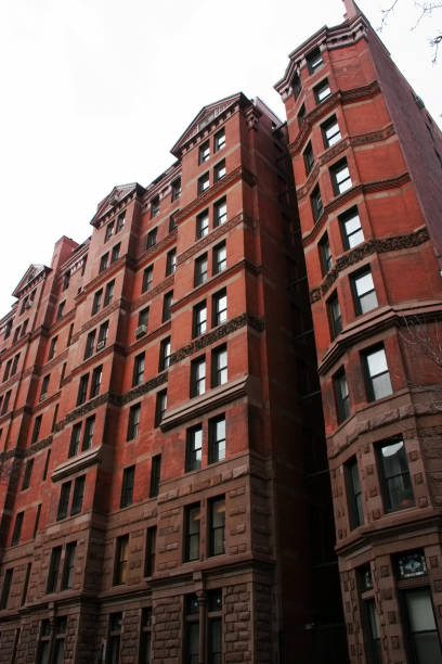 Exclusive pre-war highrise apartment buildings at Gramercy Park in Manhattan, New York City