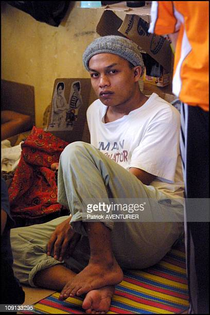 Exclusive Prisoners Suspected Members Of Abu Sayyaf Muslim Rebel Group Detained In Isabela On The Island Of Basilan On February 23Th 2002 In Isabela...