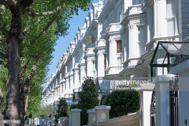 Exclusive properties on Holland Park W11 in the Royal Borough of Kensington and Chelsea London UK