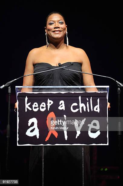 NEW YORK OCTOBER 15 *Exclusive* Queen Latifa on stage at Hammerstein Ballroom during Keep A Child Alive's 6th Annual Black Ball hosted by Alicia Keys...
