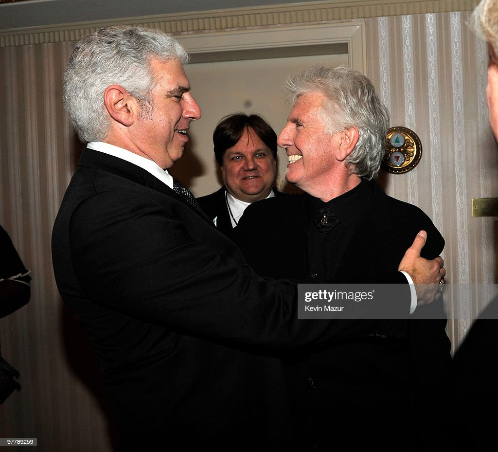 *Exclusive* Rob Light and Graham Nash attends the 25th Annual Rock and Roll Hall of Fame Induction Ceremony at The Waldorf=Astoria on March 15, 2010 in New York, New York.