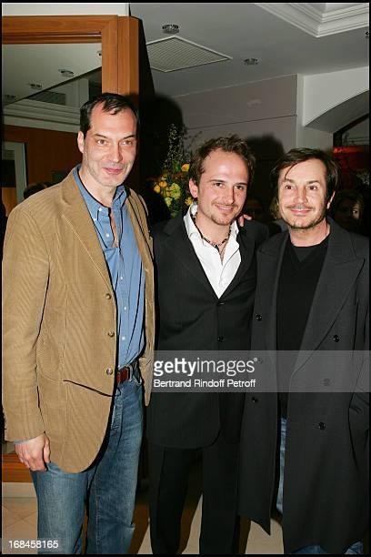Exclusive Samuel Labarthe Bastien Denis and Gerald Laroche at Exclusive CaritaMontaigne Celebrates Its 10 Years In Paris