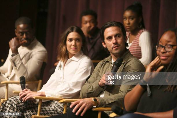 US Exclusive Screening with Dan Fogelman and Cast Pictured Sterling K Brown Mandy Moore Asante Blackk Milo Ventimiglia Lyric Ross producer/writer Kay...