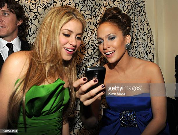WASHINGTON JANUARY 18 *Exclusive* Shakira and Jennifer Lopez at the 2009 Latino Inaugural Gala Celebrando El Cambio at Union Station on January 18...