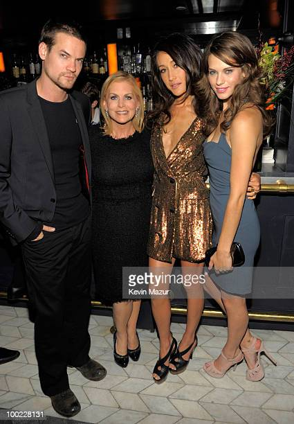 NEW YORK MAY 20 *Exclusive* Shane West President of Entertainment The CW Dawn Ostroff Maggie Q and Lyndsy Fonseca attends the CW Network's 2010...