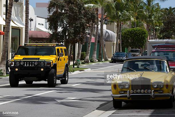 Exclusive shopping district Worth Avenue in Palm Beach Florida