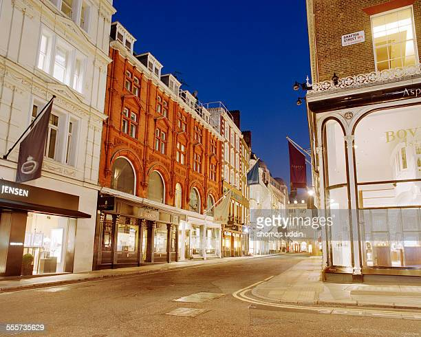 Exclusive shopping street of London