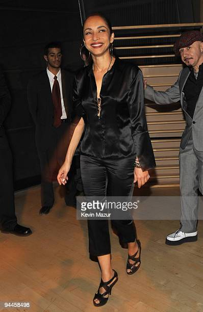 NEW YORK DECEMBER 14 *Exclusive* Singer/Songwriter SADE makes a surprise appearance at the New York listening party for her new studio album the...