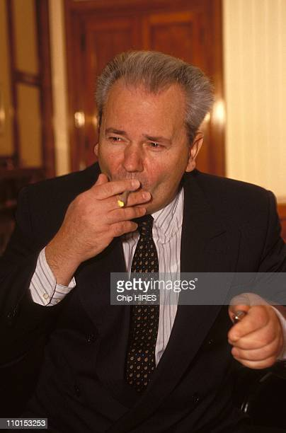 Exclusive Slobodan Milosevic Serbian President in his office in Montenegro on December 13 1992