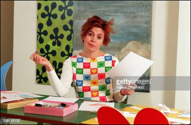 **Exclusive** Spanish Fashion Designer Agatha Ruiz De La Prada On February 13Th 2002 In Paris France In Her Own Flat In Paris