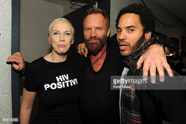 *Exclusive* Sting Annie Lennox and Lenny Kravitz attends the 25th Anniversary Rock Roll Hall of Fame Concert at Madison Square Garden on October 30...