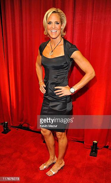 **Exclusive** Swimmer Dara Torres posses backstage during the 17th annual ESPY Awards held at Nokia Theatre LA Live on July 15 2009 in Los Angeles...