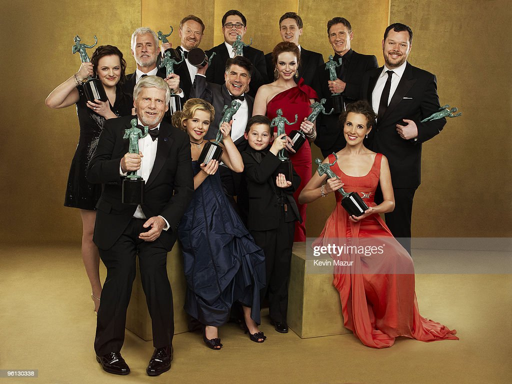 *Exclusive* The cast of 'Mad Men' pose for a portrait at the TNT/TBS broadcast of the 16th Annual Screen Actors Guild Awards at the Shrine Auditorium on January 23, 2010 in Los Angeles, California. 19379_014_0270_R.jpg