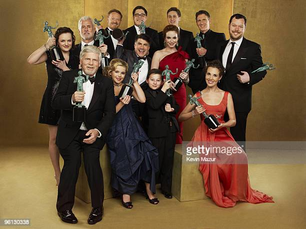 *Exclusive* The cast of 'Mad Men' pose for a portrait at the TNT/TBS broadcast of the 16th Annual Screen Actors Guild Awards at the Shrine Auditorium...
