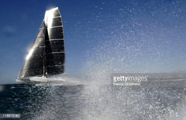 Exclusive The Hydroptere Crossed The Insurmountable Wall Of Wind Faster Than The Storm The Mirage Of Poseidon In Fos Sur Mer France On October 04...