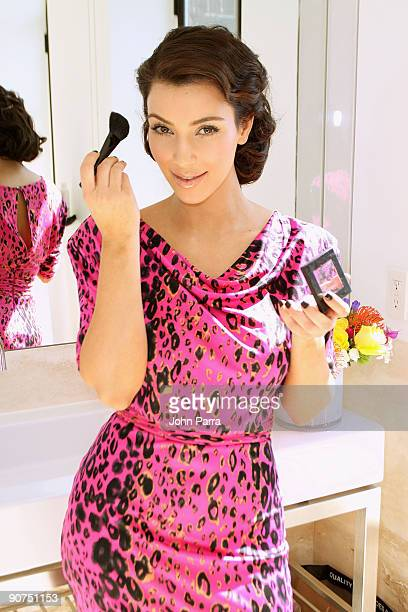 NEW YORK SEPTEMBER 14 *Exclusive* TV personality Kim Kardashian attends the Victoria's Secret Fashion Week Suite at Bryant Park Hotel on September 14...