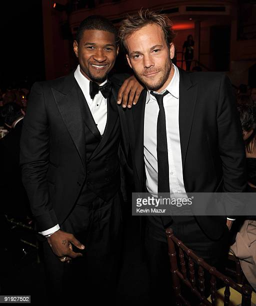 NEW YORK OCTOBER 15 *Exclusive* Usher and Stephen Dorff at Hammerstein Ballroom during Keep A Child Alive's 6th Annual Black Ball hosted by Alicia...