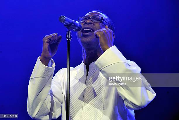 NEW YORK OCTOBER 15 *Exclusive* Youssou N'Dour on stage at Hammerstein Ballroom during Keep A Child Alive's 6th Annual Black Ball hosted by Alicia...