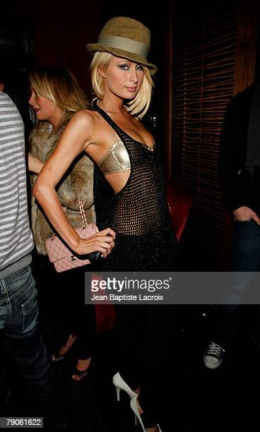 **Exclusive**Paris Hilton attends Kristin Cavallari 's birthday on January 16 2007 at Stone Rose Lounge in West Hollywood California