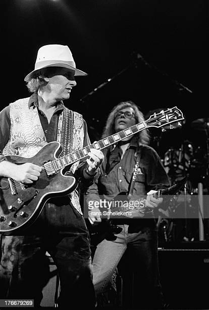 Ex-Doors guitarist Robbie Krieger performs at Vredenburg in Utrecht, on 1st May 1989.