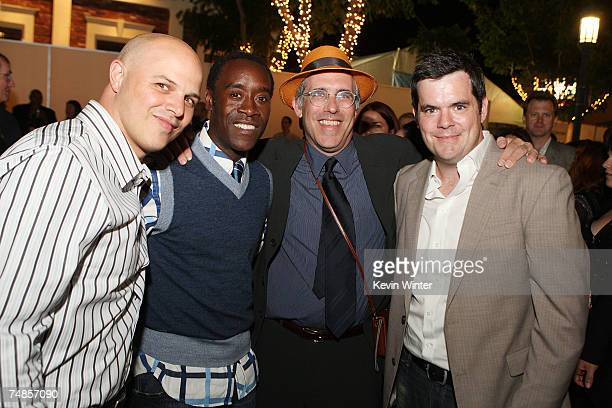 Exec Prod Joey Rappa actor/exec prod Don Cheadle exec prod William Hornberg and producer Josh McLaughlin pose at the afterparty for the premiere of...
