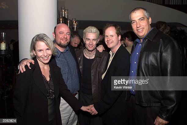 Exec prod Marti Noxon UPN's Dean Valentine James Marsters creator/producer/director Joss Whedon and Gary Newman at a screening of Once More With...