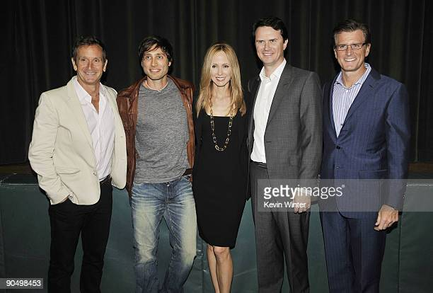 Exec prods Dante Di Loreto Brad Falchuk Fox's Dana Walden Peter Rice and Kevin Reilly pose at the premiere screening of Fox TV's 'Glee' at Willow...