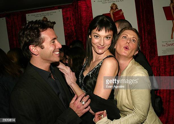 """Exec. Producer Ricky Strauss, writer Nancy Pimental and producer Cathy Konrad arriving at """"The Sweetest Thing"""" film premiere after-party at Roseland..."""
