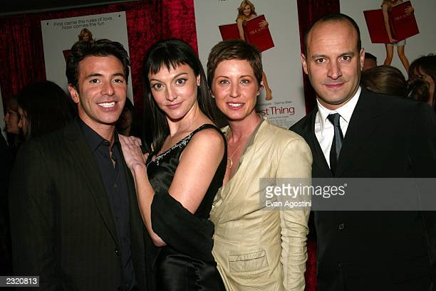 """Exec. Producer Ricky Strauss, writer Nancy Pimental, producer Cathy Konrad and director Roger Kumble arriving at """"The Sweetest Thing"""" film premiere..."""