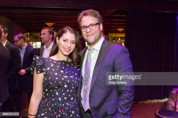 Exective Producer Seth Rogen and his wife Actress and Screenwriter Lauren Miller attend the Premiere Of AMC's Preacher Season 2 After Party on June...