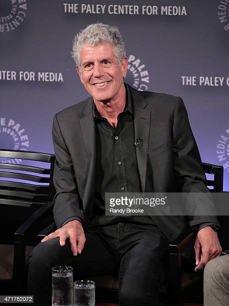 Exectutive producer and chef Anthony Bourdain during the panel discussion of 'Parts Unknown' And Beyond A Conversation With Anthony Bourdain hosted...